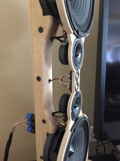 WMTMW Open Baffle project - so far so good<br> Open Baffle Speakers, Wooden Speakers, Diy Speakers, Acoustic Design, Audio Design, Sound Design, Audiophile Speakers, Hifi Audio, Hifi Amplifier