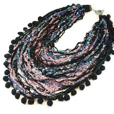 Multistrand statement necklace. www.foambubbles-jewelry.com