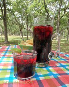 Authentic Mexican recipe for agua de jamaica an herbal hibiscus tea that substi