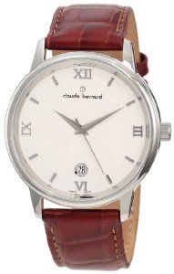 Claude Bernard Men's 70154 3 AIN Classic Gents Ivory Dial Brown Leather Date Watch claude bernard. $161.20. Second-hand feature. Water resistant up to 165 feet (50 m). Ivory dial with silver indices. Brown leather strap. Date window. Save 28% Off!