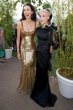 L'Wren Scott and Daphne Guinness at the Annual Serpentine Summer Party [Photo by James Mason]