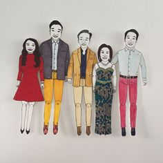 "Cat Pang-Murray on Twitter: ""#Weddinggifts 2 the parents of the future bride & groom #wedding #anniversary #paperdolls #illustration #birthdays #personalisedgifts https://t.co/NIgz1OdrE3"""