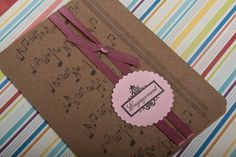 Engagement card music fun beautiful pink by DoodlePaperCrafts, €4.50