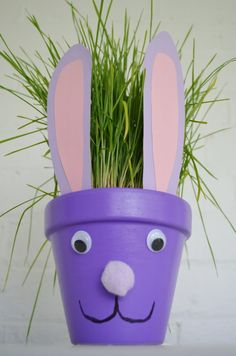 Easter Bunny Flower Pot Craft Idea - The Kid's Fun Review
