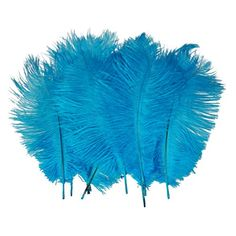 Amazon - Blue Ostrich Feathers, 10 pieces, By Leegoal, $4.44