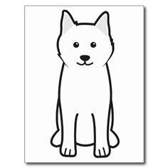 Samoyed Dog Cartoon Postcard