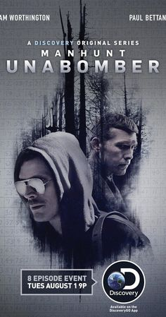 Trailer, featurettes, images and poster for the miniseries MANHUNT: UNABOMBER starring Sam Worthington and Paul Bettany. Chris Noth, Paul Bettany, Buddy Movie, Movie Tv, Joel Edgerton, Mahershala Ali, Ellie Kemper, Robert Sheehan, Eric Bana