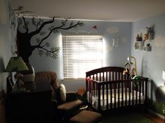 Nursery - Jungle Theme Room - Animals, Trees, Grass, Clouds
