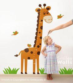 Growth+Chart+Nursery+Vinyl+Wall+Decal+Giraffe+von+smileywalls,+$75,00