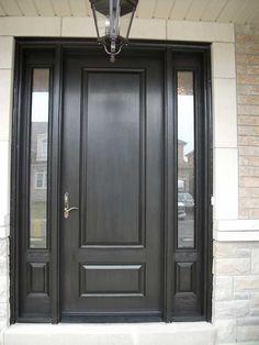 Single Exterior Doors single entry door with sidelights |  entry door w/ 3-lite 3/4