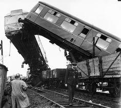 Singleton Bank rail crash, Weeton, England, 16 July 1961.
