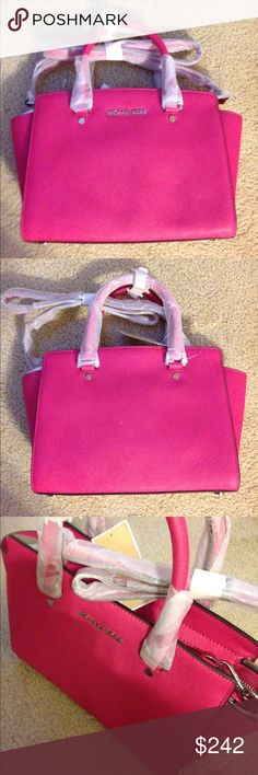 Michael Kors Selma medium satchel in Raspberry Michael Kors Selma medium satchel in Raspberry , top Zip, silver hardware, brand new with tags and original packaging, style number 30T3SLMS2L. MICHAEL Michael Kors Bags Satchels