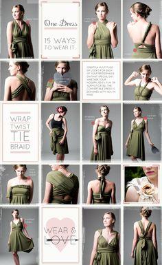 Convertible bridesmaid dresses?! Hmmm...
