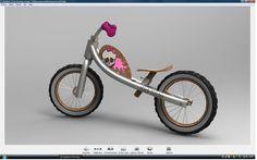 2ème PRIX du challenge : Vélo sans pédale KID-RIDE de franck.barraud Voici donc ma proposition pour le vélo sans pédale, Pour résumer en quelque mots mon projet: _ Réduire les couts au maximum avec un chassis le plus simple possible (4 tubes) _ Avoir un coté écologique avec un max de materiaux éco. _ Un vélo personnalisable fille/garçon. _ Ma source d'inspiration: les choppers!!!!!! une forme de chassis inspiré des customs, une assise trés basse et un guidon haut. CAO, CAD, 3D, Design…