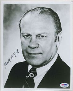 PRESIDENT-GERALD-FORD-SIGNED-AUTO-PSA-DNA-8x10-PHOTO #president #geraldford #ford #photo #signed #autograph #keepersunlimited #history