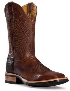 Mens Cinch Boots DS Crazy Goat Cafe Square Toe Cowboy Boot