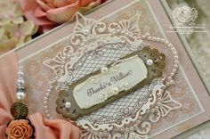 Thanks a Million card designed by Becca Feeken at Amazing Paper Grace using Just Because Vintage Labels and Ever After Vintage Labels.  Spellbinders™ Venetian Motifs, Labels Twenty,  Floral Ovals,  and Fancy Framed Tags Two.