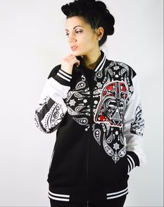 Sugar Skull Star Wars Varsity Jacket - My Odd Girl