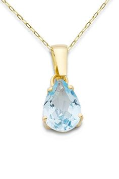 Miore - MA9023N - Collier Femme - Or jaune 375/1000 (9 carats) 1.41 gr - Topaze bleue - 45 cm