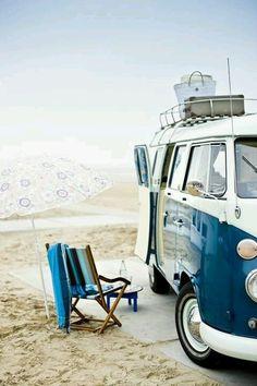 #beach #surf #van #vw