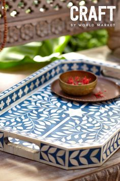 Celebrate the spirit of The Second Best Exotic Marigold Hotel and discover unique, handcrafted CRAFT BY WORLD MARKET items inspired by the film. Our Nila Bone Inlay Tray is a one-of-a-kind tabletop accessory that looks exquisite when used as an entertaining essential and simply stunning when displayed on its own. Made in India; available through March 27th, 2015. #CRAFTBYWORLDMARKET