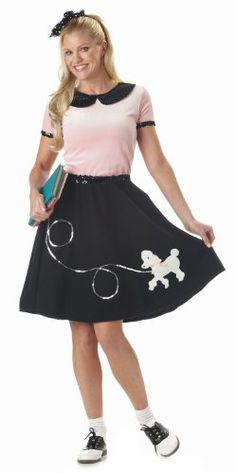 California Costumes Women's 50'S Hop With Poodle Skirt Costume, Pink/Black,X-Large  List Price: $36.99 Buy Now: $13.87