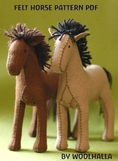 I enjoy hand sewing felt toys for the kids.  The horses are pretty cute--especially the yarn manes.