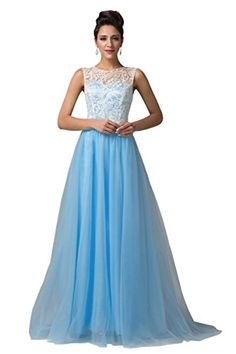 Grace Karin® Women's Blue Lace Bodice Long Evening Prom Dresses CL6108 (2) GRACE KARIN http://www.amazon.com/dp/B00Q66DAMW/ref=cm_sw_r_pi_dp_XYP1vb0G2C667