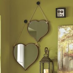 Set of 2 Heart Mirrors from Through the Country Door® | NW711347