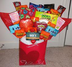 "the ""man bouquet"" I made my boyfriend for Valentine's Day :)"