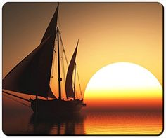 "Orange Sunset Sea Reflection Customizable Gaming Mouse Pad Mat 240x200x3mm(9.45""x7.87""x0.12"") by iCustom&Shop Mouse Pads http://www.amazon.com/dp/B017052CUS/ref=cm_sw_r_pi_dp_uuDkwb1SWQT8E"