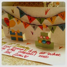 DIY Pop Up Birthday Card! Decorate with rhinestones for some extra sparkle