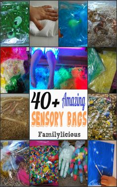 The Ultimate List of Sensory Bags! Over 40 different kinds
