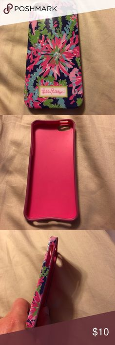 Lilly Pulitzer iPhone 5/5S case Good condition Lilly Pulitzer Accessories Phone Cases