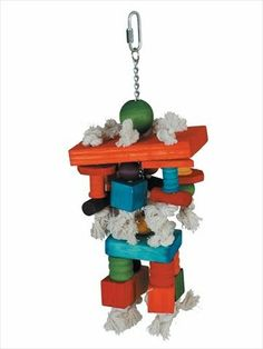Amazon.com : Paradise 6 by 15-Inch Blocks Pet Chew Toy, Large : Large Bird Toys : Pet Supplies
