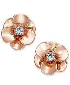 kate spade new york Crystal Flower Stud Earrings | macys.com