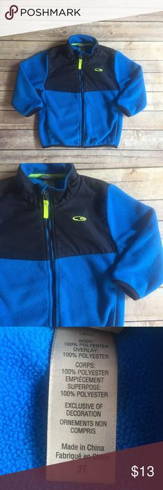 Champion Fleece Jacket Size 2T bright blue fleece jacket in good used condition.  No obvious flaws but it was worn often so listing as good condition.  Shows minor wash wear typical of fleece.  Champion brand. Champion Jackets & Coats