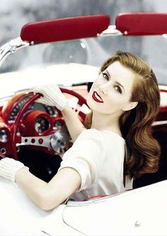 Amy Adams is the perfect pin up girl! Look Girl, Up Girl, Girl Car, Nice Girl, Zooey Deschanel, Pin Up, Retro Wedding Theme, Retro Weddings, 50s Wedding