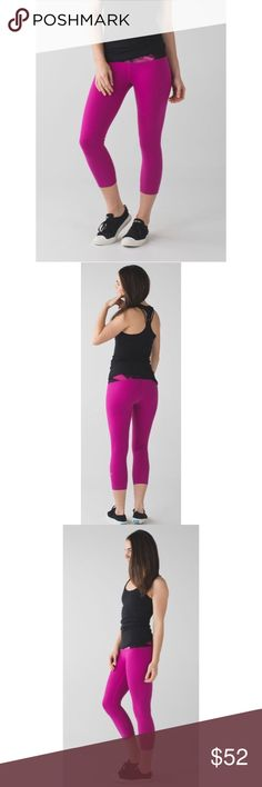 "Lululemon Blooming Pixie This high-rise take on our classic Wunder Under crop gives you the extra boost of coverage (and courage!)Full-On Luon® gives incredible support and coverage with a cottony-soft feel added LYCRA® fibre bends with you and stays in great shape the wide, smooth waistband is designed to eliminate muffin top stash your key or card in the hidden, side-entry  Full-On® Luon rise: high inseam: 21 1/2"" leg opening: 11"" lululemon athletica Pants Ankle & Cropped"