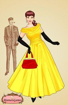 50's Dress - Belle - #SommerTime #Disney #Princess