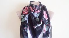 Scarf Spring Trends scarf stylish accessory Black by BloomedFlower, $22.00