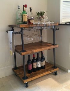 """Visit our website for additional relevant information on """"gold bar cart decor"""". It is actually an exceptional location to read more. Diy Bar Cart, Bar Cart Decor, Gold Bar Cart, Bar Cart Wood, Bar Carts, Bar Trolley, Mini Bars, Diy Cozinha, Industrial Bar Cart"""
