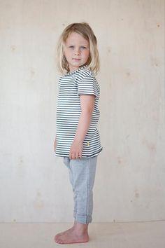 Natural white/dark blue striped t-shirt. Blue Stripes, Dark Blue, Studio, Kids, Cotton, T Shirt, Collection, Women, Fashion