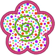 Flower Embroidery Applique File. $2.00, via Etsy.