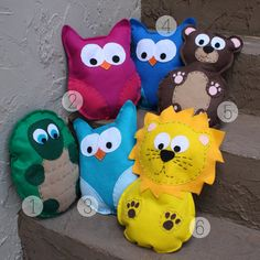 Felt Stuffed Animals by shopapparelandstuff on Etsy, $12.00