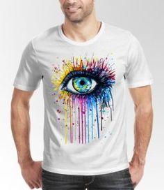 yeux coloré t-shirt personnalisé dzgraphique algerie