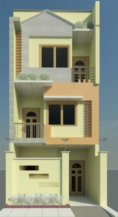 Modern Small House Design, Classic House Design, Simple House Design, Cool House Designs, House Front Wall Design, Bungalow House Design, 3d House Plans, Indian House Plans, House Elevation