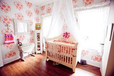 Sweet, whimsical wallpaper for baby girl's nursery - #projectnursery