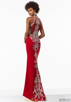 1a2810cfbdc Mori Lee High Neckline Fitted Dress 99075 Mori Lee Dresses