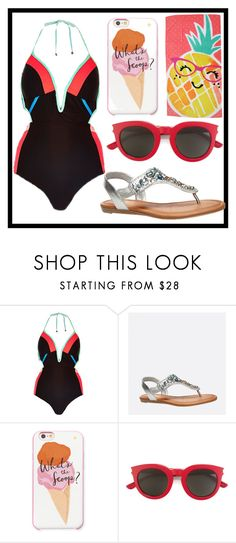 """275: Swimming"" by alinepelle ❤ liked on Polyvore featuring Avenue, Kate Spade, Yves Saint Laurent, Evergreen and swimsuit"